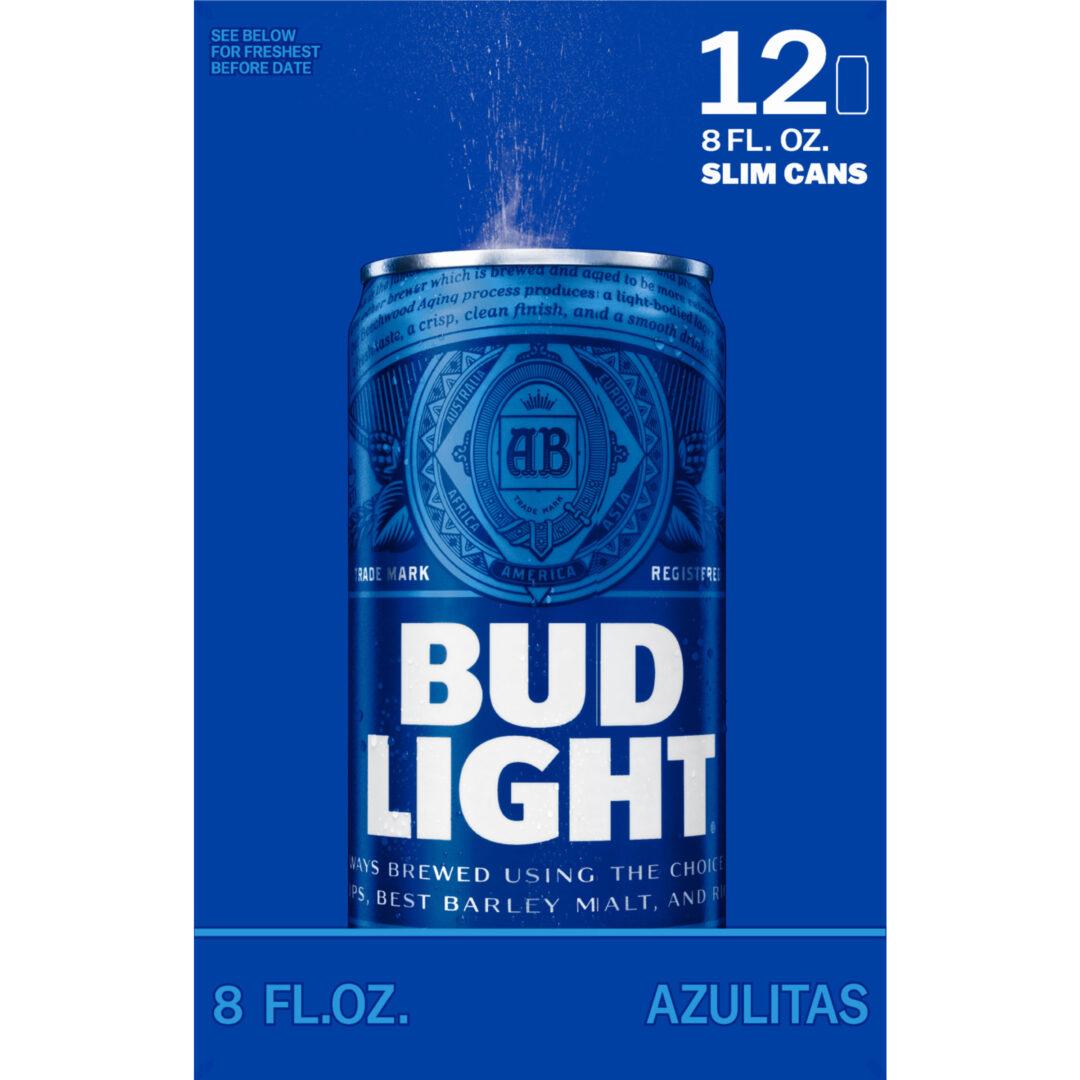 Bud Light 12 Pack Slim Cans 8 Fl Oz