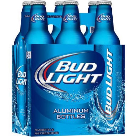 Bud Light 6 Pack Aluminum Bottle Mesa Liquor
